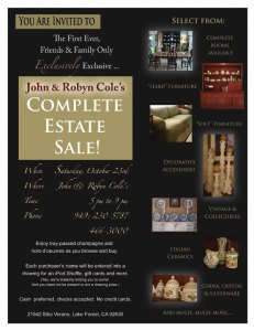 Today is the big day for John and Robyn's huge house sale